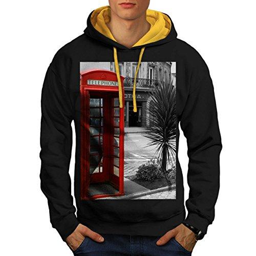 telephone-cabin-uk-communication-men-new-black-gold-hood-m-contrast-hoodie-wellcoda