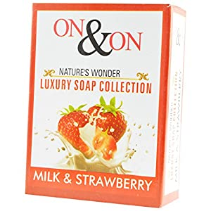On & On Nature's Luxury Milk and Strawberry Soap, 75g