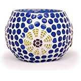 Cratly Candle Holder Dual Purpose Pen Holder / Tea Light Holder / Table Top Candle Holder For Office Home Mosaic...