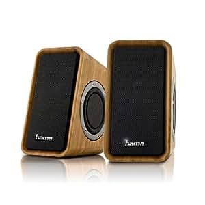 Hama Bambus 2.0 Multimedia PC Lautsprecher mit passiven Subwoofern (USB)