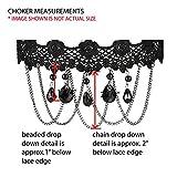 Choker-Black-Lace-Flower-Retro-Royal-Pendant-Bead-Dangle-Necklace-Girls
