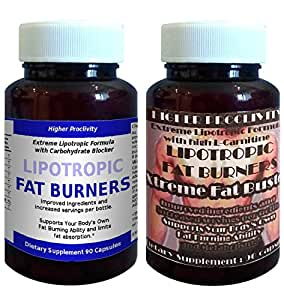 Higher Proclivity Lipotropic pills with extra Carbohydrate Blocker Phaseolus Vulgaris ** with Bonus Xtreme FatBuster ** for Fat Burning, Fat Loss, Slimming and Weight Loss