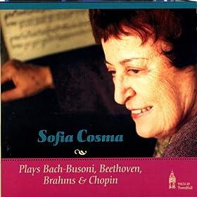 Plays Bach-Busoni, Beethoven, Brahms & Chopin