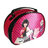 So Ho Shopping Girl Round Top Train Case Polka Dot Hot Pink And Black