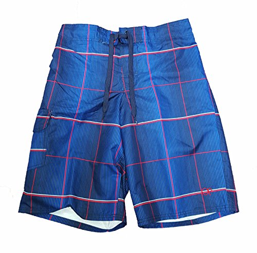op-navy-blue-plaid-eboard-short-at-knee-22-outseam-swim-trunks-medium