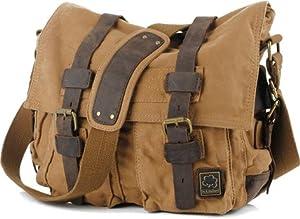 Brown Vintage Military Messenger Bag
