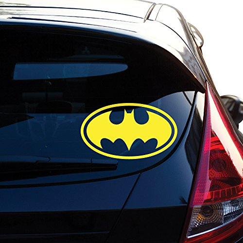 "Batman Decal Sticker for Car Window, Laptop, Motorcycle, Walls, Mirror and More. # 452 (4"" x 6.9"", Yellow)"