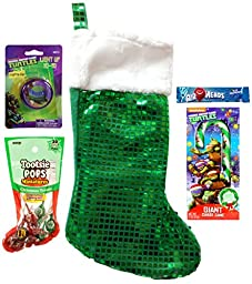 TMNT Teenage Mutant Ninja Turtles Holiday Christmas Stocking Gift Bundle (5 Pieces)