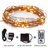 Fairy-Star-String-Lights-39ft-Extra-Long-Warm-White-LED-Copper-Wire-Indoor-Outdoor-Wall-adapter-and-Battery-Adaptor-Included-plus-Remote-Control