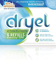 Dryel Clean Breeze Refills, 6 count boxes (Pack of 2)