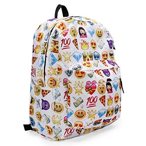 king-do-way-womens-travel-backpack-shoulder-school-book-bag-rucksack-white-32-x-13-x-42cm