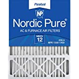 Nordic Pure 20x25x5 (4-3/8 Actual Depth) MERV 12 Lennox X6673 Replacement AC Furnace Air Filter, 2 PACK, 2 piece (Color: MERV 12, Tamaño: 2 PACK)