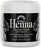 Rainbow Research: Henna Powder Color & Conditioner Parisian Black 4 oz (2 pack)