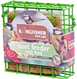 Outdoor Garden Bird Suet Cake Feeder with Feed