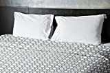 Ebydesign Geometric Duvet Cover, Queen, 2Classic Gray