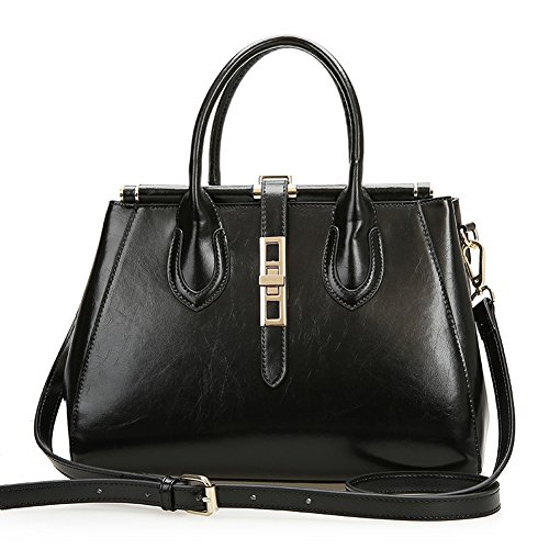 Fashion Clutch Cross-Body Shoulder Wristlet Handbag For Women 010501 (Black)