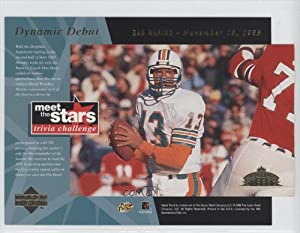Dan Marino November 13th, 1983 Miami Dolphins (Trading Card) 1996 Upper Deck Meet the... by Upper Deck Meet the Stars Trivia Challenge Jumbos