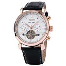GuTe Luxury Men's Automatic Mechanical Wristwatch Self-wind Rose-gold Case Day Date Month Year