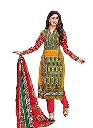 RK Fashion Womens Cotton Un-Stitched Salwar Suit Dupatta Material ( YOGESH-MCM-LIFESTYLE-SANA-153-Multi-Coloured-Free Size)