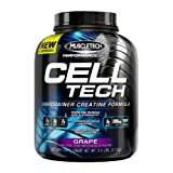 MuscleTech Cell Tech, Hardgainer Creatine Formula,Grape, 5.95 lbs (2.70kg)