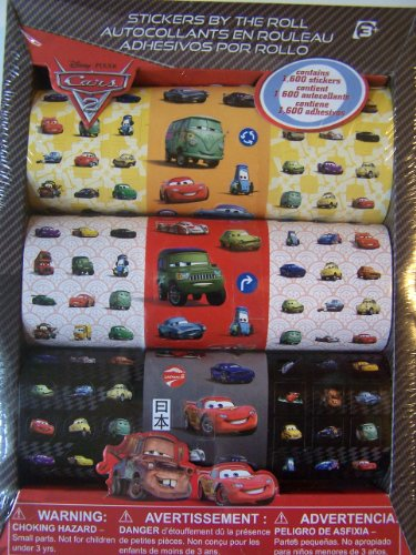 Disney Cars Stickers By the Roll - Stickers May Vary