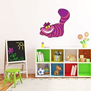alice in wonderland cheshire cat wall decal wall decor 25. Black Bedroom Furniture Sets. Home Design Ideas