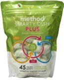 Method Smarty Dish Dishwasher Plus Tablets, Lemon Mint, 45 Count