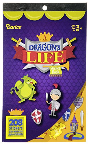 Darice Sticker Book - Dragon's Life - 208 stickers