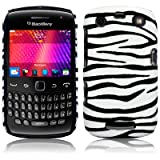 BLACKBERRY CURVE 9360 ZEBRA PU LEATHER ONE-PIECE SNAP CASE / COVER / SHELL / SHIELD PART OF THE QUBITS ACCESSORIES RANGEby Qubits