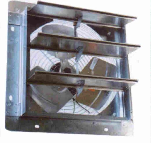"Airmaster 23002 Lower Pressure Shutter Fan, 12"" Prop Diameter, 115V, 1/30Hp Motor"