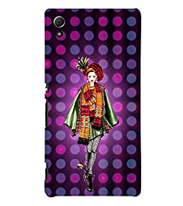 College Tinage Girl 3D Hard Polycarbonate Designer Back Case Cover for Sony Xperia Z4 :: Sony Xperia Z4 E6553