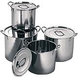 4 piece stainless steel stock pot set
