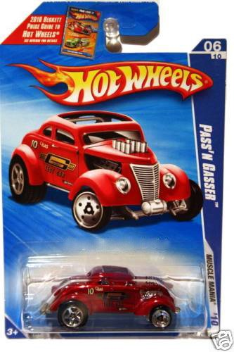 Hot Wheels 2010 Pass'N Gasser Muscle Mania 6/10 RED #104