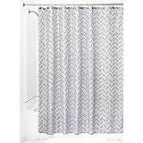 InterDesign Chevron Shower Curtain, 72 x 72-Inch, Taupe/Lavender