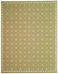 "2'2"" x 3'10"" Rectangular Oscar Isberian Rugs Accent Rug Oat Color Machine Made Belgium ""Martha Stewart Collection"" Pinwheel Design"