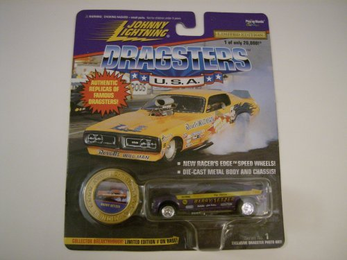 "Johnny Lightning Dragsters U.S.A. - 1997 ""Barry Setzer"" 1:64 Scale Replica Funny Car and Coin (Limited Edition #06413/ 20000)"