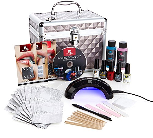 Red Carpet Manicure Pro 45 Ultimate Pro LED Gel Nail Polish Kit with Train Case (Red Carpet Gel Polish Purify compare prices)