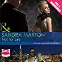 Not for Sale (       UNABRIDGED) by Sandra Marton Narrated by Jennifer Woodward