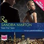 Not for Sale | Sandra Marton