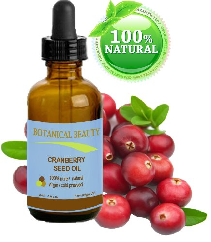Cranberry Seed Oil. 100% Pure / Natural. Cold Pressed / Undiluted. For Face, Hair And Body. 0.5 Fl.Oz-15Ml.
