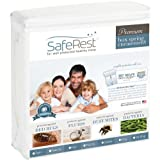 """Twin Extra Long (XL) Size SafeRest Premium Waterproof Lab Certified Bed Bug Proof Zippered Box Spring Encasement - Designed For Complete Bed Bug, Dust Mite and Fluid Protection 9"""""""