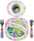 The First Years Feeding Set - Monsters Inc Boy - 4 Pc