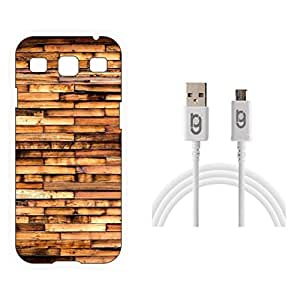 Designer Hard Back Case for Samsung Galaxy S3 with 1.5m Micro USB Cable