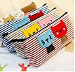 Homgaty Vintage Canvas Cats Pen Pencil Case Cosmetic Makeup Bag Storage Pouch Purse The Perfect Birthday, Christmas Gift