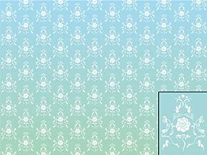 wandbild foto tapete barockes muster t rkis kt124 barock. Black Bedroom Furniture Sets. Home Design Ideas