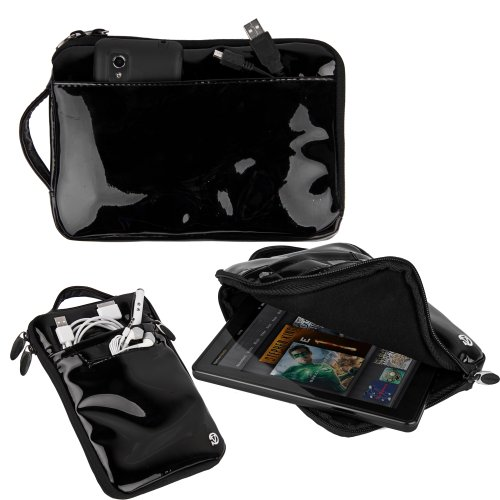 Obsidian VanGoddy Tablet Accessories Stylish Hydei Padded Carrying Case Skytex Skypad Alpha 2 Protective Cover