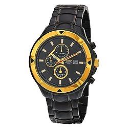 Omax Date Analog Chronograph Black Dial Mens Watch - CS162