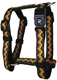 Hamilton Ajustable Comfort Dog Harness in Earthtone Weave, Medium