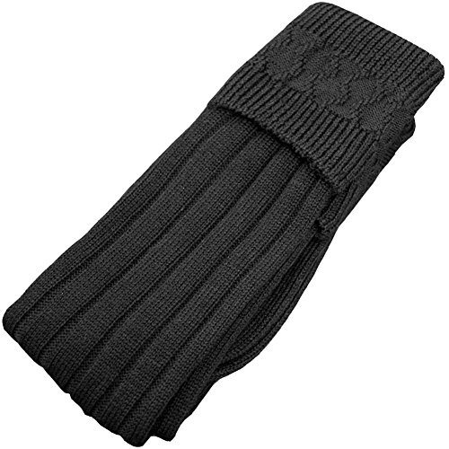 USA Kilts High Quality Black Kilt Hose Socks (medium) (Mens Black Kilt Hose compare prices)
