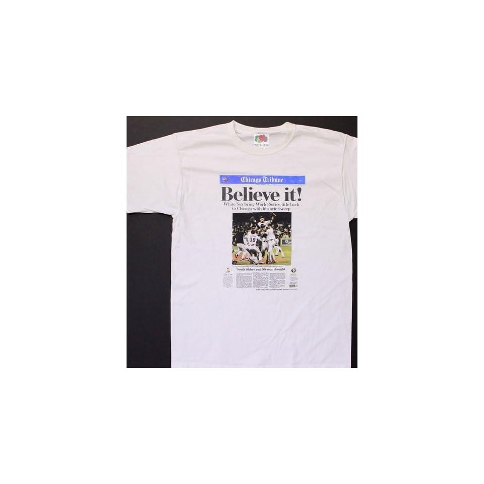 Chicago White Sox 2005 World Series Tribune Mens Shirt Extra Large XL New